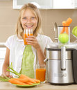 Girl drinking Juice Royalty Free Stock Photography