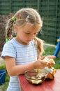 Girl eating chocolate. Royalty Free Stock Photography