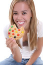 Girl Eating Cookie Royalty Free Stock Image