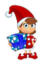 Girl Elf Character In Red Royalty Free Stock Photo
