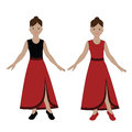 The girl is engaged in dances Royalty Free Stock Photo