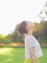 Girl enjoying spring outdoors Royalty Free Stock Photos