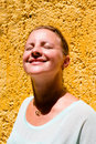 Girl Enjoying the Sun Royalty Free Stock Photo
