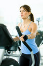Girl exercising at the gym Stock Image
