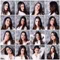 Girl expressions Royalty Free Stock Photo