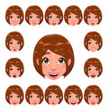 Girl expressions with lip sync Royalty Free Stock Image