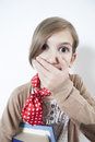 Girl face with expressive eyes Stock Photo