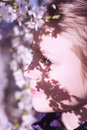 Girl face by springtime Royalty Free Stock Photo