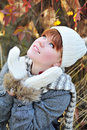 Girl in fall time Stock Photos