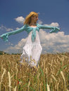 Girl in field Royalty Free Stock Photo