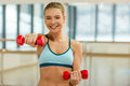 Girl in fitness class Royalty Free Stock Photo
