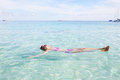 Girl Floating In Andaman Sea Royalty Free Stock Photos