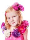 Girl with flower Stock Image