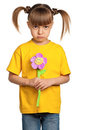 Girl with flower Stock Photo