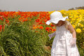 Girl in Flowers Royalty Free Stock Photos