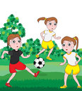 Girl Football Competition_eps Stock Images