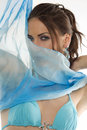 The girl with foulard Stock Images