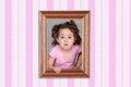 Girl and framework Royalty Free Stock Photo