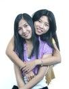 Girl friend-hug Stock Photo