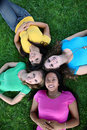 Girl Friends in the Park Royalty Free Stock Photography
