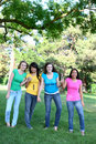 Girl Friends in the Park Royalty Free Stock Photos