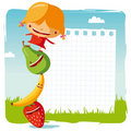 Girl With Funny Fruits