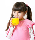 Girl with a glass of juice Stock Images