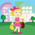 Girl going shopping Royalty Free Stock Photo
