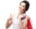 Girl going to shopping Royalty Free Stock Photos
