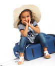 Girl Going On Vacation Stock Photo