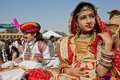 image photo : Girl with gold jewelry and traditional dress of India