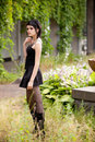 Girl in gothic style Royalty Free Stock Photos