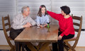 Girl with grandparents Royalty Free Stock Photo