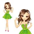 Girl In Green Dress Dancing