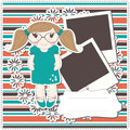 Girl greeting card Royalty Free Stock Images