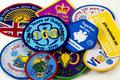 Girl Guiding Badges Stock Photo