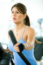 Girl at the gym Royalty Free Stock Photography