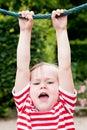 Girl hanging on Royalty Free Stock Photo
