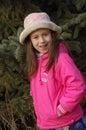 Girl hat pink pretty Στοκ Εικόνες