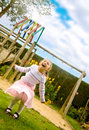 Girl having fun Stock Images