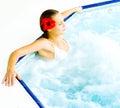 Girl having fun in a bath Royalty Free Stock Photo