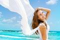 Stock Photo Girl Having Fun on the Beach