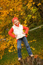 Girl having fun outdoors Stock Photography