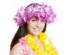 Girl in a Hawaiian Wreath Royalty Free Stock Photo