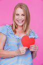 Girl with Heart Stock Photography
