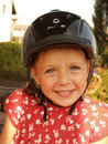 Girl in helmet Stock Photography