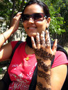 Girl with henna tattoo Royalty Free Stock Image