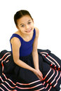 Girl in her ballet outfit Royalty Free Stock Photos
