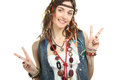 Girl hippie Royalty Free Stock Photo