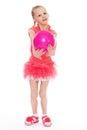Girl holding ball Royalty Free Stock Photo